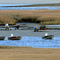 Ipswich River Clammers 2 by Gary Gibson
