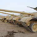 Iraqi T-72 Tanks From Iraqi Army by Stocktrek Images