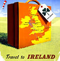 Ireland Vintage Travel Poster Restored by Vintage Treasure