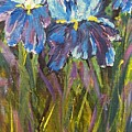 Iris Floral Garden by Claire Bull