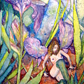 Iris Grantor Of Hope Wisdom And Inspiration - Watercolor by Donna Hanna
