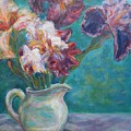 Iris Medley - Original Impressionist Painting by Quin Sweetman
