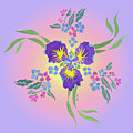 Iris Pinwheel by Teresa Ascone