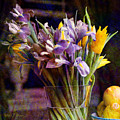 Irises In A Glass by Barbara Berney