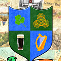 Irish Coat Of Arms - Byrne by Mark E Tisdale