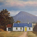 Irish Farmhouse Near Croagh Patrick by Sean Conlon