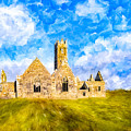 Irish Monastic Ruins Of Ross Errilly Friary by Mark E Tisdale