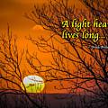 Irish Proverb - A Light Heart... by James Truett