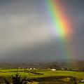 Irish Rainbow And Sunbeams by James Truett