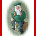 Irish Santa Card by Ellen Barron O'Reilly