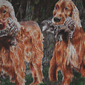 Irish Setters by Darcie Duranceau