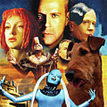 Irish Terrier Art Canvas Print - The Fifth Element Movie Poster by Sandra Sij