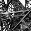 Iron Bridge Close Up In Black And White by Anthony Doudt