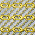 Iron Chains With Brushed Metal Seamless Texture by Miroslav Nemecek