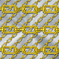 Iron Chains With Brushed Metal Texture by Miroslav Nemecek