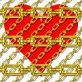 Iron Chains With Heart Texture by Miroslav Nemecek