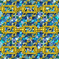 Iron Chains With Mosaic Seamless Texture by Miroslav Nemecek