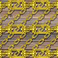 Iron Chains With Wood Texture by Miroslav Nemecek