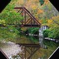 Iron Railroad Bridge From Worrall Covered Bridge by John Burk