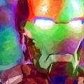 Ironman Abstract Digital Paint 1 by Ricky Barnard
