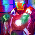 Ironman Abstract Digital Paint 2 by Ricky Barnard