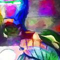 Ironman Abstract Digital Paint 3 by Ricky Barnard