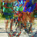 Ironman Bicyclist 2109 by David Mosby