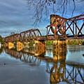 Ironman Reflections 6th Street Trestle Bridge Augusta Georgia Art by Reid Callaway