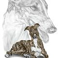 Irresistible - Greyhound Dog Print Color Tinted by Kelli Swan