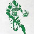 Isaiah Thomas Boston Celtics Pixel Art 2 by Joe Hamilton