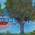 Island Boathouse by Lawrence Booth