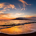 Island Gold - An Amazingly Golden Sunset On The Beach In Hawaii by Nature  Photographer