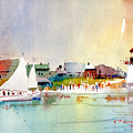 Island Light by P Anthony Visco