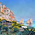 Island Of Capri - Gulf Of Naples by Rosario Piazza