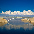 Island Of Pag Bridge And Velebit Mountain by Brch Photography