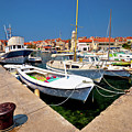 Island Of Prvic Harbor And Waterfront View In Sepurine Village by Brch Photography