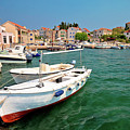Island Of Prvic Turquoise Harbor And Waterfront View In Sepurine by Brch Photography