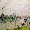 Island Of The Cross At Rouen by Camille Pissarro