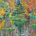 Island On The Park Pond by Vitali Komarov
