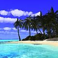 Island With Palm Trees by Judi Suni Hall