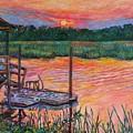 Isle Of Palms Sunset by Kendall Kessler