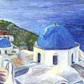 Isle Of Santorini Thiara  In Greece by Carol Wisniewski