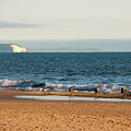 Isle Of Wight As Seen From Bournemouth Beach by Phyllis Taylor
