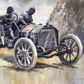 Isotta Fraschini 50hp 1908 Targa Florio  by Yuriy Shevchuk