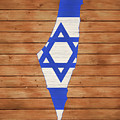 Israel Rustic Map On Wood by Dan Sproul