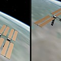 Iss - Gently Cross Your Eyes And Focus On The Middle Image by Brian Wallace