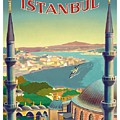 Istanbul Turkey 1939 World Travel Poster by Retro Graphics
