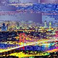 Istanbul Turkey At Night by Rafael Salazar
