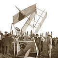 It Was A Good Landing The Pilot Walked Away  Twin Wing Aircraft  Circa 1909 by California Views Archives Mr Pat Hathaway Archives