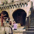 Italian Courtyard Henryk Semiradsky by Eloisa Mannion
